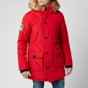 Superdry Men's Everest Parka - Deep Berry