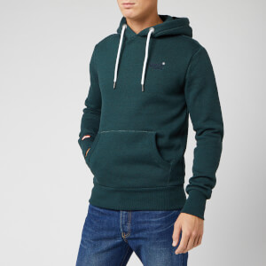 Superdry Men's Orange Label Classic Hoody - Trekker Teal Marl