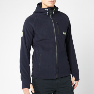 Superdry Men's Polar Fleece Zip Hoody - Total Eclipse