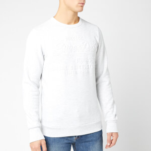 Superdry Men's Sweat Shirt Shop Embossed Crew Sweatshirt - Ice Marl