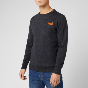 Superdry Men's Orange Label Crew Sweatshirt - Night Shade Black Marl