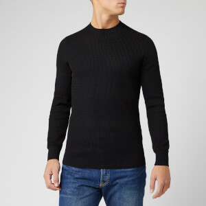 Superdry Men's Academy Crew Neck Jumper - Black