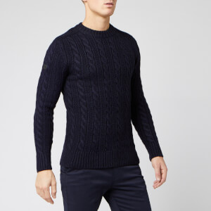 Superdry Men's Jacob Crew Neck Jumper - Downhill Navy Twist