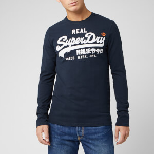 Superdry Men's Vintage Logo 1st Duo Long Sleeve T-Shirt - Eclipse Navy