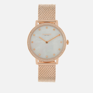 Coach Women's Audrey Mesh Strap Watch - Silver