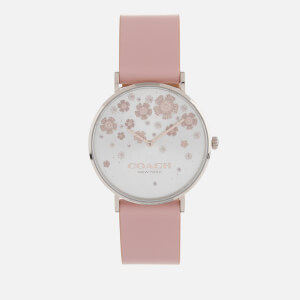 Coach Women's Perry Leather Strap Watch - Pink