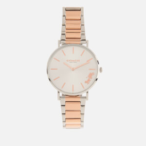 Coach Women's Perry Metal Strap Watch - Silver/Pink