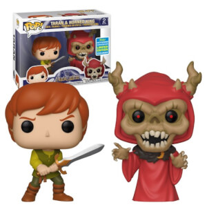SDCC 2019 The Black Cauldron Taran & Horned King EXC 2-Pack Pop! Vinyl Figures