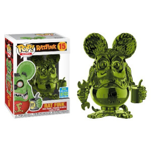 SDCC 2019 Rat Fink Grün Chrom EXC Pop! Vinyl Figur