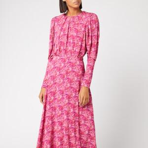ROTATE Birger Christensen Women's Number 57 Dress - Cornflower Hot Pink