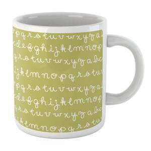 Alphabet Mug Green