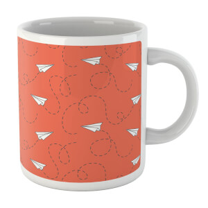 Paper Airplane Mug Orange