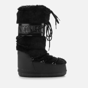 Moon Boot Women's Classic Faux Fur Boots - Black