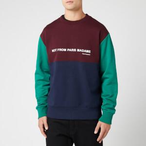 Drole De Monsieur Men's Panelled Slogan Sweatshirt - Multi1