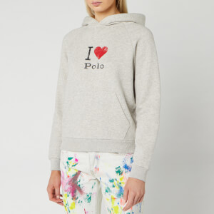 Polo Ralph Lauren Women's Heart Long Sleeve Knit Hoodie - Light Sport Heather