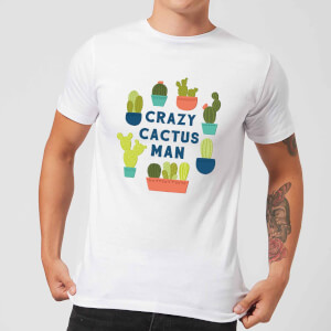 Crazy Cactus Man Men's T-Shirt - White