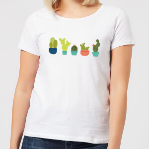 Cacti In A Row Women's T-Shirt - White