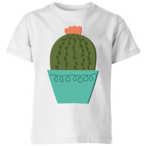 Cactus With Flower Kids' T-Shirt - White