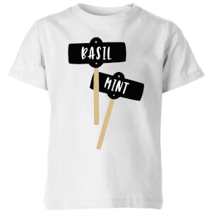 Basil And Mint Kids' T-Shirt - White