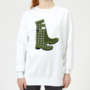 Wellies Women's Sweatshirt - White