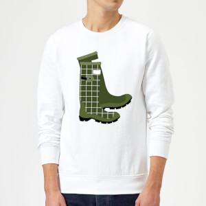 Wellies Sweatshirt - White