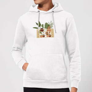 Vegetable Box Hoodie - White
