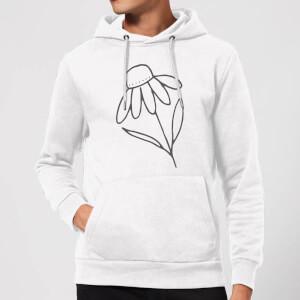 Flower Hoodie - White