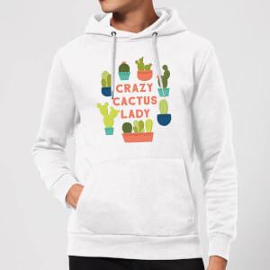 Crazy Cactus Lady Hoodie - White