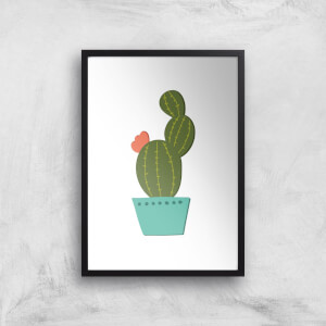 Single Potted Cactus Art Print