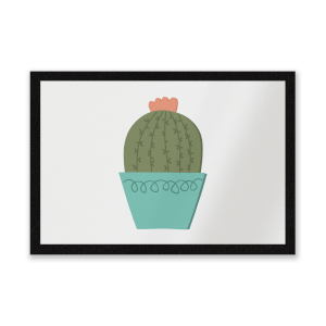 Cactus With Flower Entrance Mat