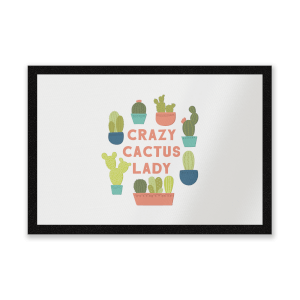Crazy Cactus Lady Entrance Mat