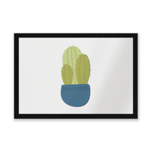 Three Potted Cacti Entrance Mat
