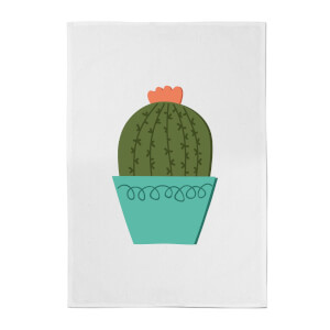 Cactus With Flower Cotton Tea Towel