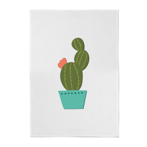 Single Potted Cactus Cotton Tea Towel