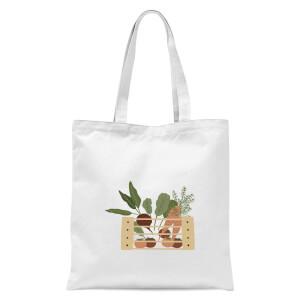 Vegetable Box Tote Bag - White