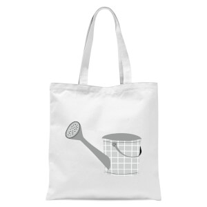 Watering Can Tote Bag - White