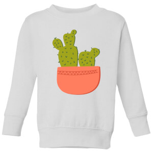 Two Potted Cacti Kids' Sweatshirt - White