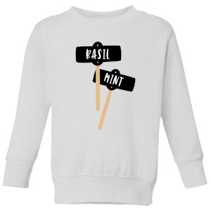 Basil And Mint Kids' Sweatshirt - White