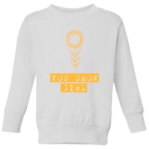 You Grow Girl Kids' Sweatshirt - White