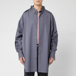 Maison Margiela Men's Oversized Cotton Poplin Shirt - Rhapsody Blue