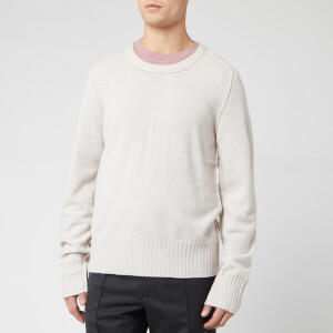 Maison Margiela Men's Elbow Patches Knitwear - Chalk