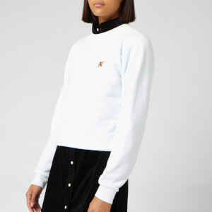 Maison Kitsuné Women's Fox Head Patch Sweatshirt - White