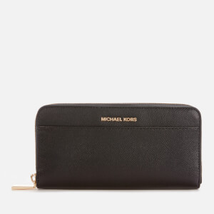 MICHAEL MICHAEL KORS Women's Jet Set Pocket Zip Around Continental Wallet - Black