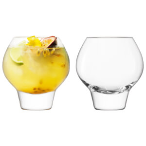 LSA International Rum Balloon Tumbler Clear - 380ml (Set of 2)