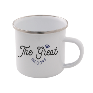 The Great Indoors Enamel Mug – White