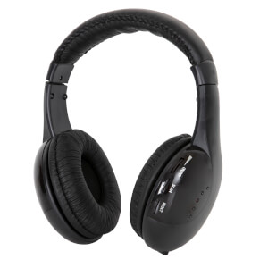 Itek 5 in 1 Wireless Headphones - Black