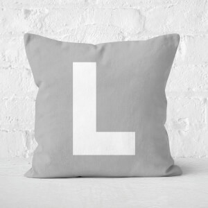 Letter L Square Cushion
