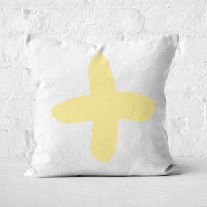 Light Yellow Cross Square Cushion