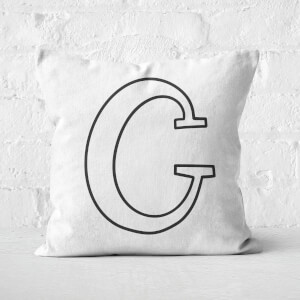 Handwritten C Square Cushion