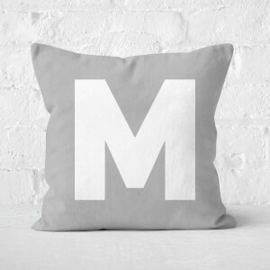 Letter M Square Cushion